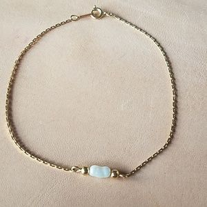Gold Avon anklet with fresh water pearl